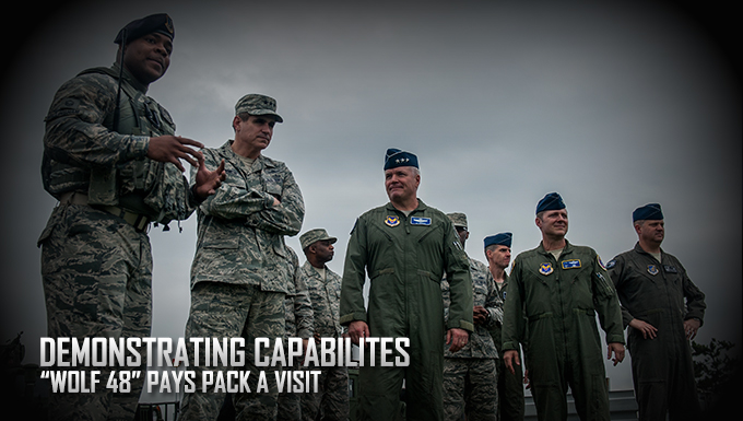 "Wolf Pack, demonstrate capabilities to ""Wolf 48"""