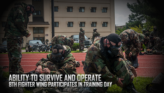 8th Fighter Wing conducts training day